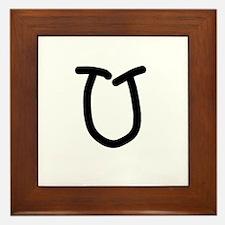Bookworm Monogram U Framed Tile
