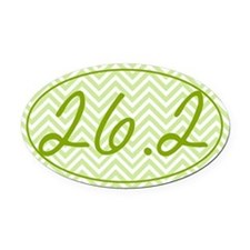 26.2 Green Chevron Oval Car Magnet