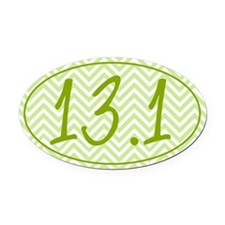13.1 Green Chevron Oval Car Magnet