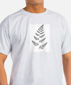Fractal Fern Ash Grey T-Shirt