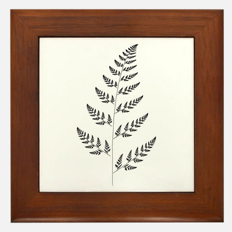 Fractal Fern Framed Tile