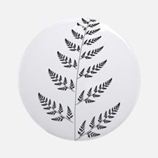 Fractal Fern Ornament (Round)