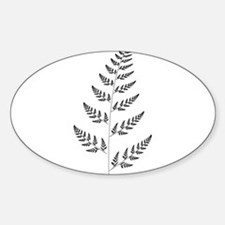 Fractal Fern Oval Decal