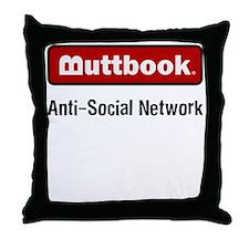 Buttbook Throw Pillow