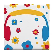flower_power_music Tile Coaster