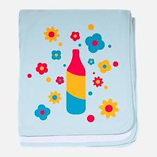 flower_power_beer baby blanket