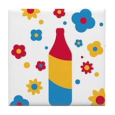 flower_power_beer Tile Coaster