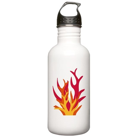abstract_fire Water Bottle