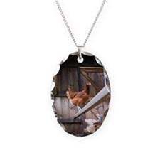Chickens in henhouse Necklace
