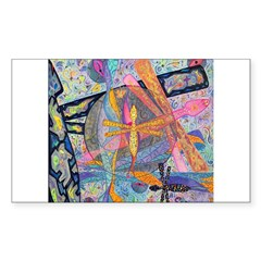 Dragonfly Magick Rectangle Decal