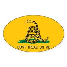 Gadsden Flag - Don't Tread On Oval Decal