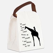 Giraffenapping Canvas Lunch Bag