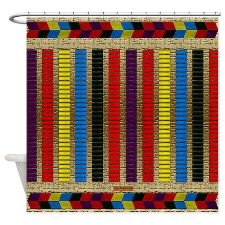 Indian Beadwork Shower Curtain