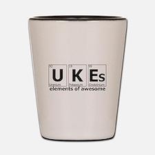 UKEs Elements of Awesome Shot Glass
