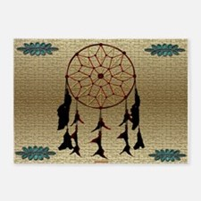 Indian Dreamcatcher 5'x7'Area Rug
