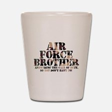 Air Force Brother Answering Shot Glass