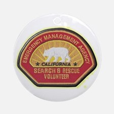 California EMA Search Rescue Ornament (Round)