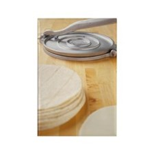 Tortillas and press Rectangle Magnet