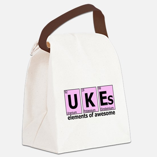 UKEs - Elements of Awesome Canvas Lunch Bag
