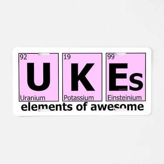 UKEs - Elements of Awesome Aluminum License Plate