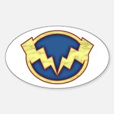 Lightning Bolts Oval Decal