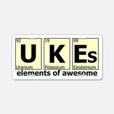 UKEs - Elements of Awesome Aluminum License Plate