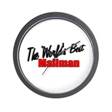 """The World's Best Mailman"" Wall Clock"