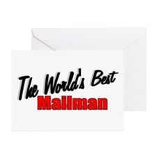 """""""The World's Best Mailman"""" Greeting Cards (Package"""