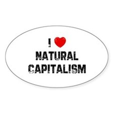 I * Natural Capitalism Oval Decal