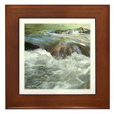 Mountian stream Framed Tile