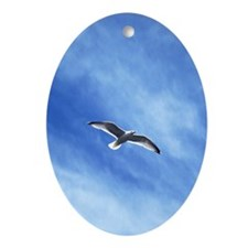 flying sea-gull Ornament (Oval)