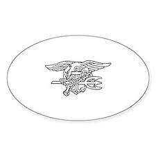 Navy SEAL - UDT Trident Oval Sticker