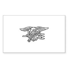 Navy SEAL - UDT Trident Rectangle Decal