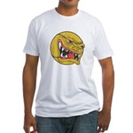 Angry Tennis Ball Fitted T-Shirt