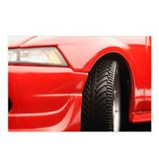 Red sports car Postcards (Package of 8)