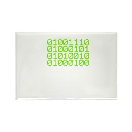 Nerd in Binary Rectangle Magnet (100 pack)