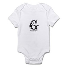 Genevieve: Fancy Monogram Infant Bodysuit