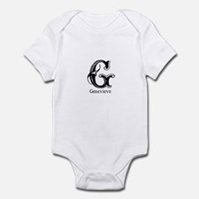 Genevieve: Fancy Monogram Onesie