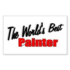 """""""The World's Best Painter"""" Rectangle Decal"""