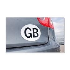 GB sticker on car Car Magnet 20 x 12