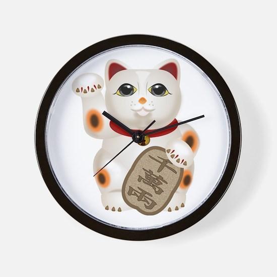 Kawaii Japanese Lucky Cat Wall Clock