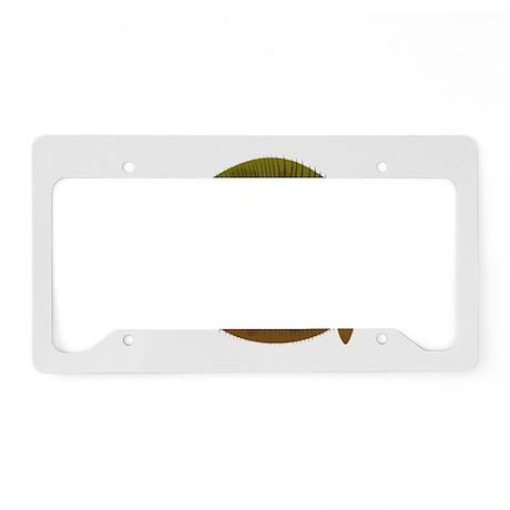 Halibut fish License Plate Holder
