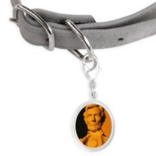 Close-up of an Abraham Lincoln  Small Oval Pet Tag