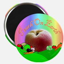 Peach on Earth Magnet