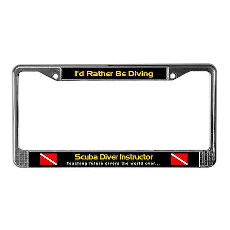 Scuba Diver Instructor, License Plate Frame