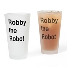 Robby the Robot Text Drinking Glass