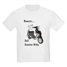 Evil Kitty Buddy Kids T-Shirt