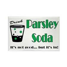 Parsley Soda Rectangle Magnet