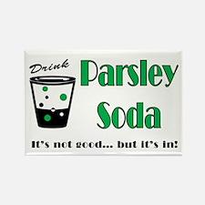 Parsley Soda Rectangle Magnet