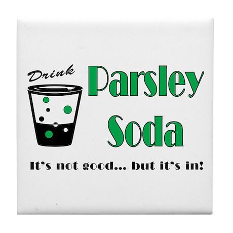 Parsley Soda Tile Coaster